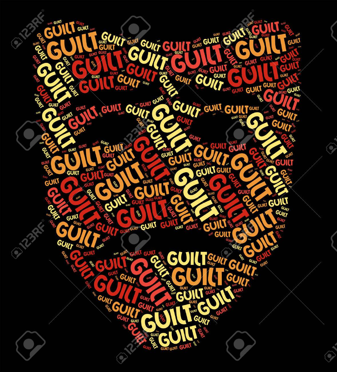 Guilt Word Representing Guilty Feeling And Words - 46111364