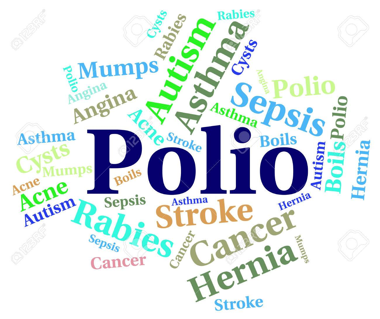 Autism And Ill Health How To Spot >> Polio Word Indicating Ill Health And Disability Stock Photo Picture