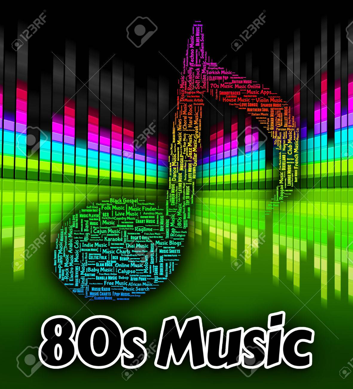 Eighties Music Indicating Sound Tracks And Acoustic