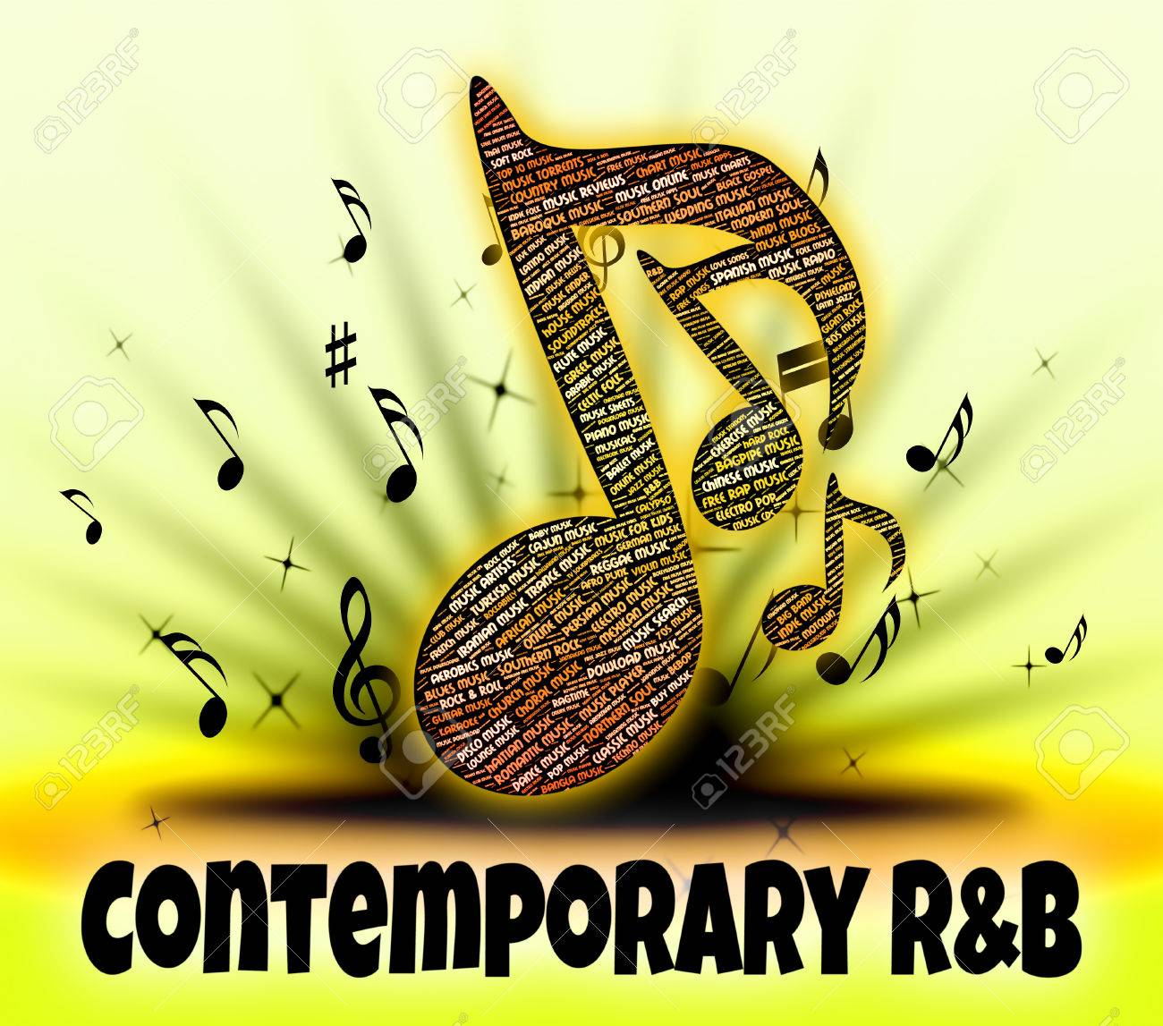 Contemporary Rb Showing Rhythm And Blues And Present Day Stock Photo