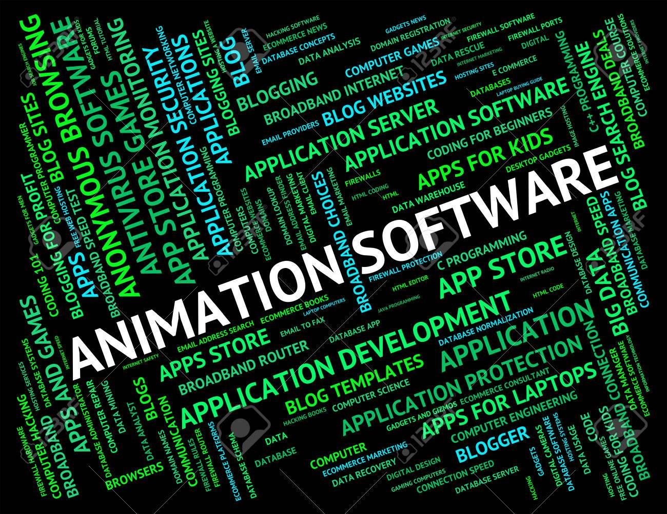 Animation Software Indicating Program Programs And Text Stock Photo Picture And Royalty Free Image Image 46503510