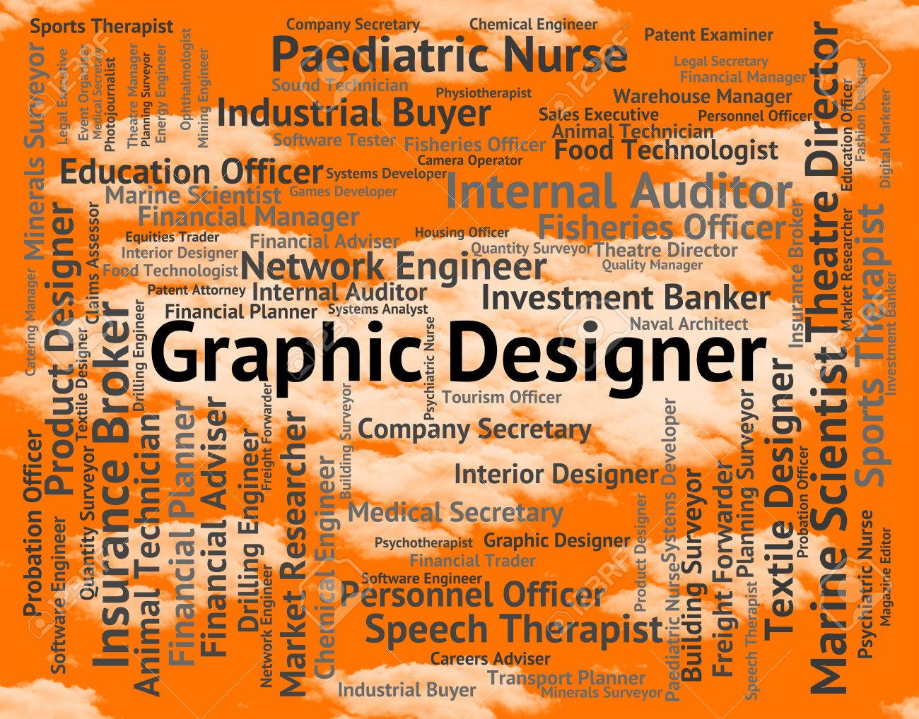 Graphic Designer Indicating Pictorial Jobs And Symbolic Stock Photo Picture And Royalty Free Image Image 46504070
