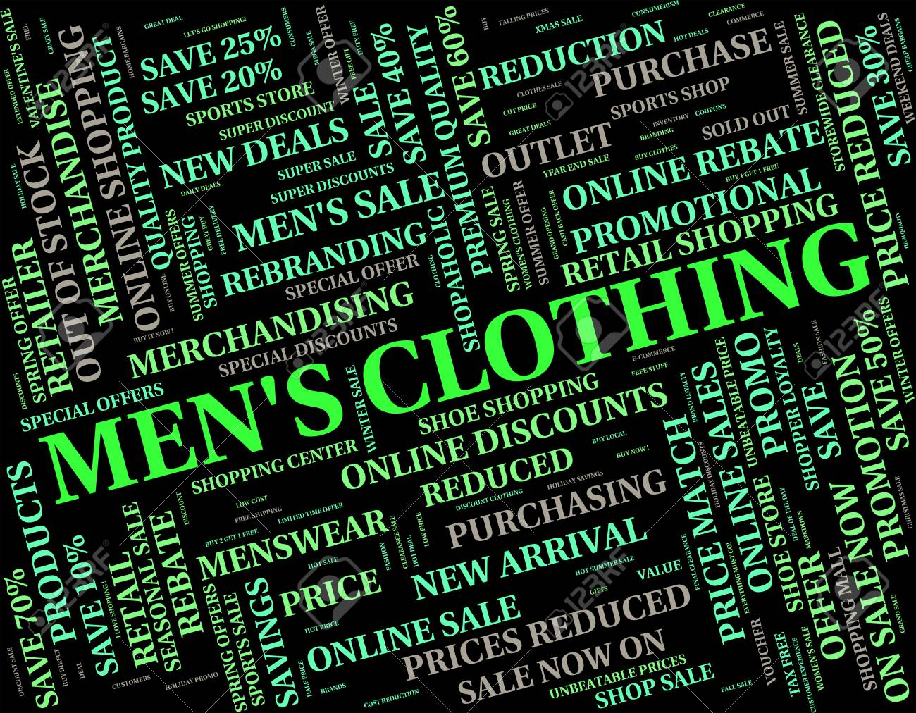 Mens Clothing Meaning Guy Garment And Adult Stock Photo, Picture ...