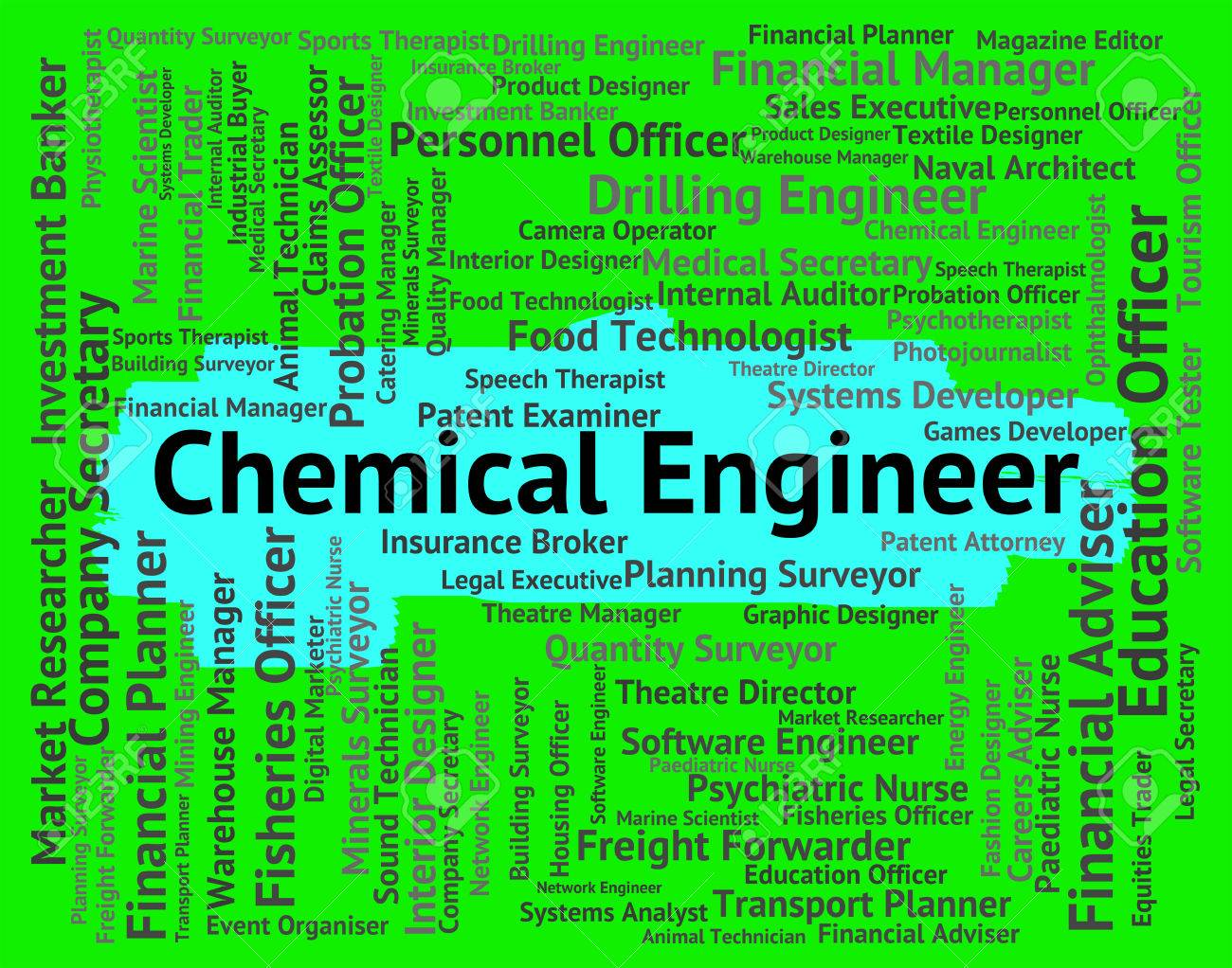 Chemical Engineer Indicating Work Hiring And Occupation Stock ...