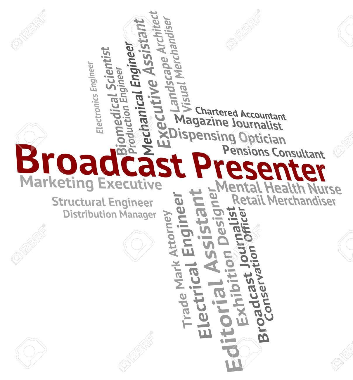 Presentador Emisión Significado Del Ancla Persona Y El Anuncio Fotos