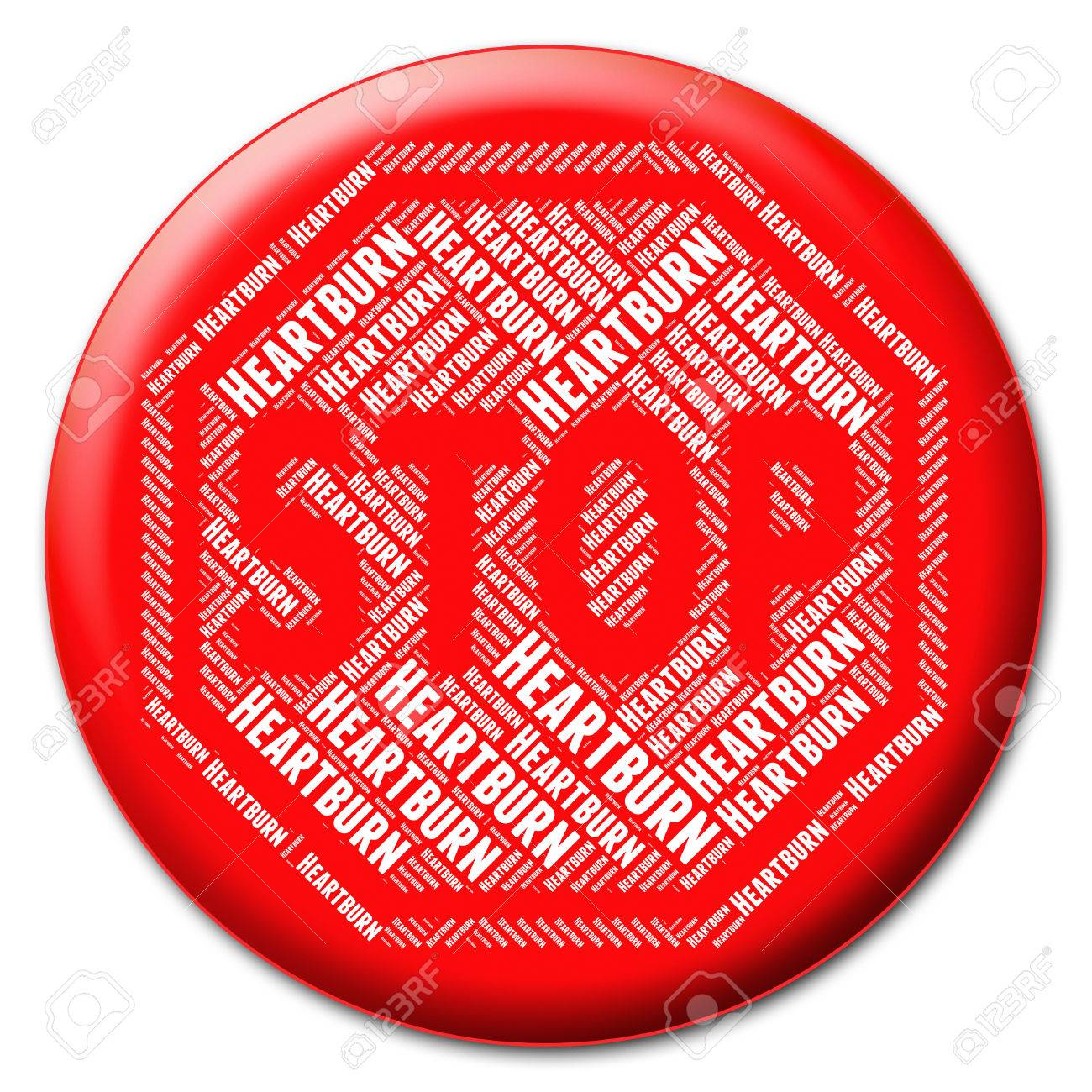 Stop Heartburn Meaning Acid Indigestion And Caution
