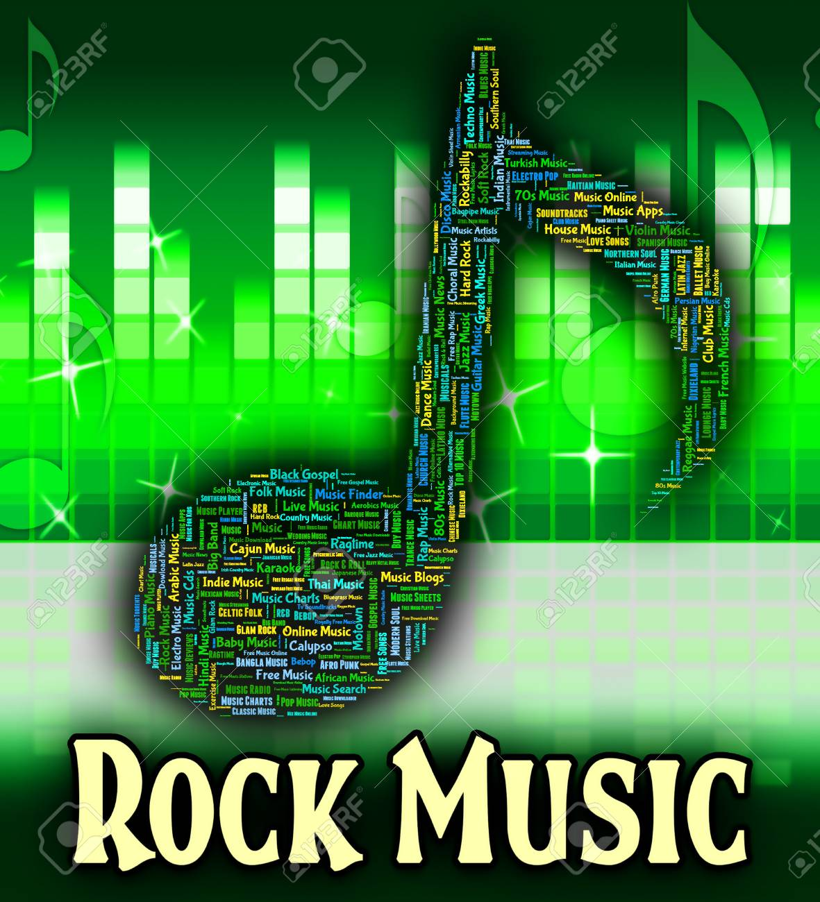 Rock Music Representing Sound Track And Acoustic