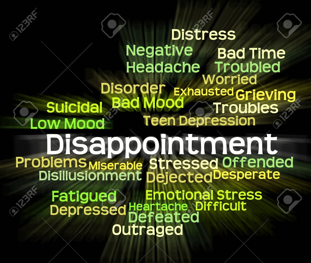 Disappointment Word Meaning Let Down And Text