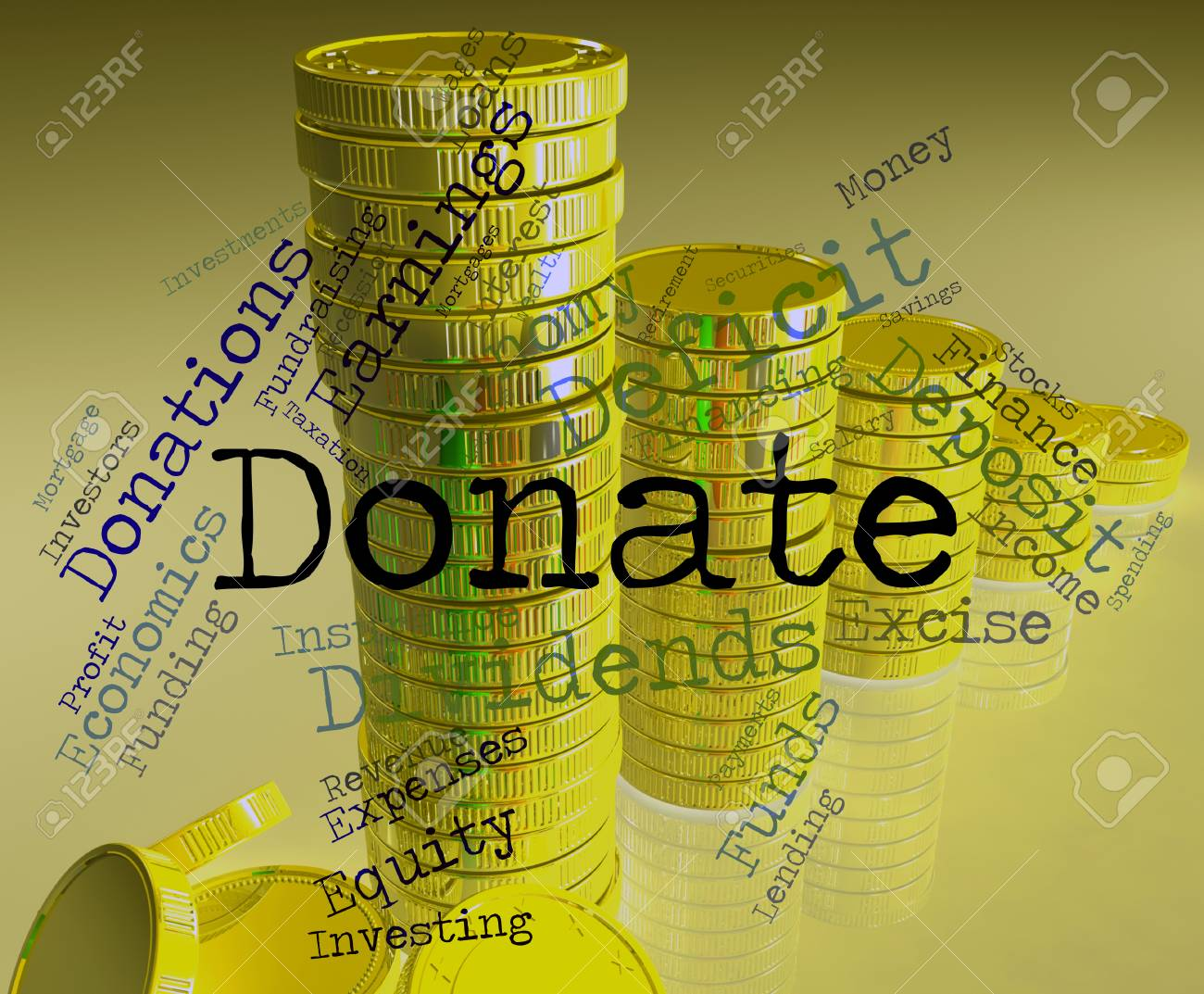 Donate Word Meaning Donation Donating And Volunteers Stock Photo Picture And Royalty Free Image Image 49659137