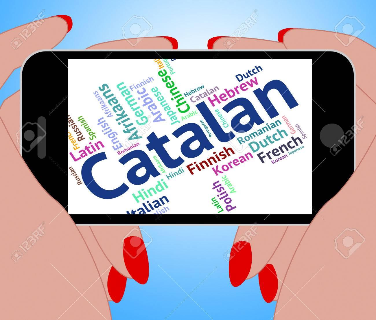 Idioma Catalán Significado Palabras Internacional Y Traducir Fotos ...