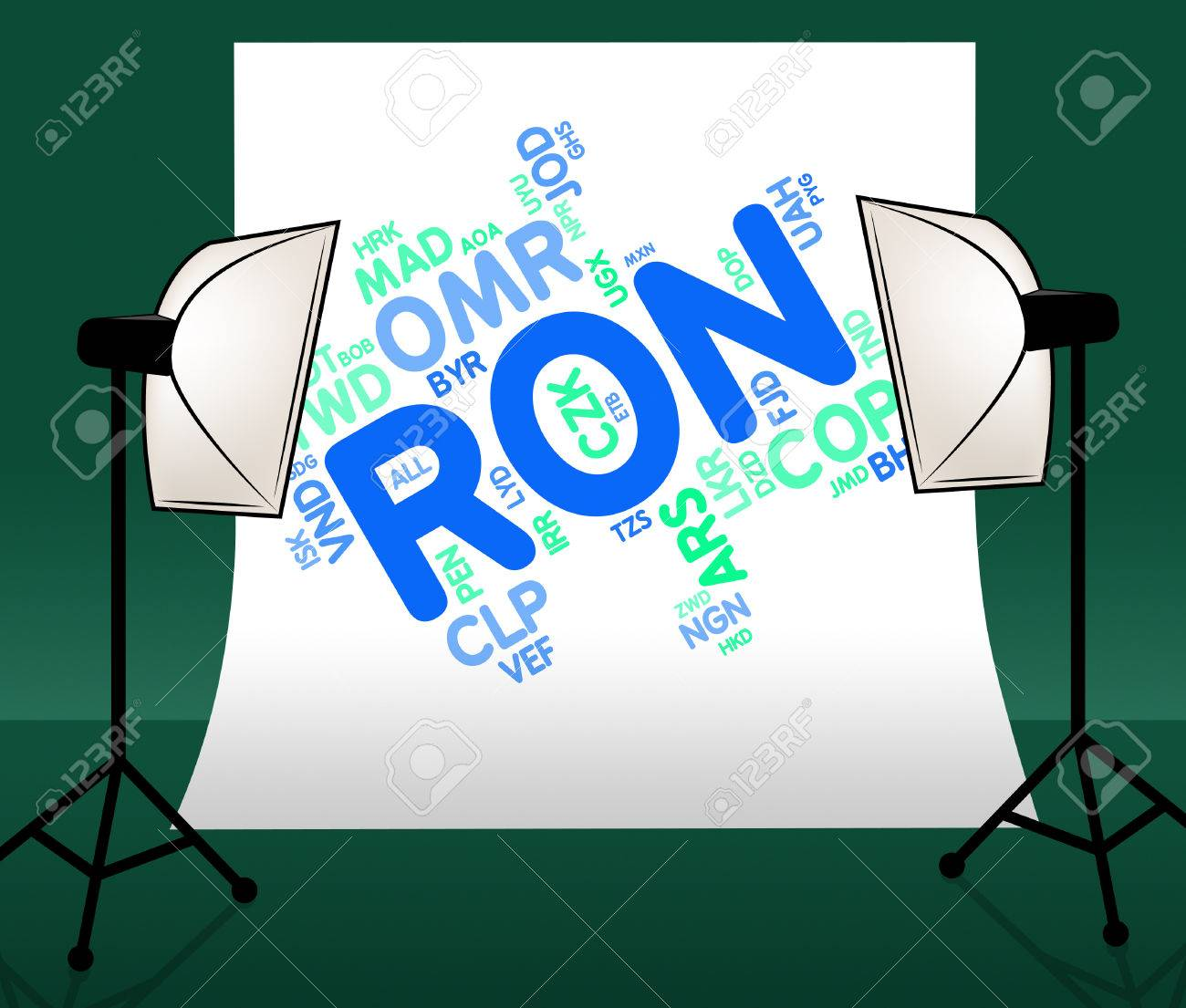 Ron Currency Meaning Romanian Leus And Foreign Stock Photo Picture