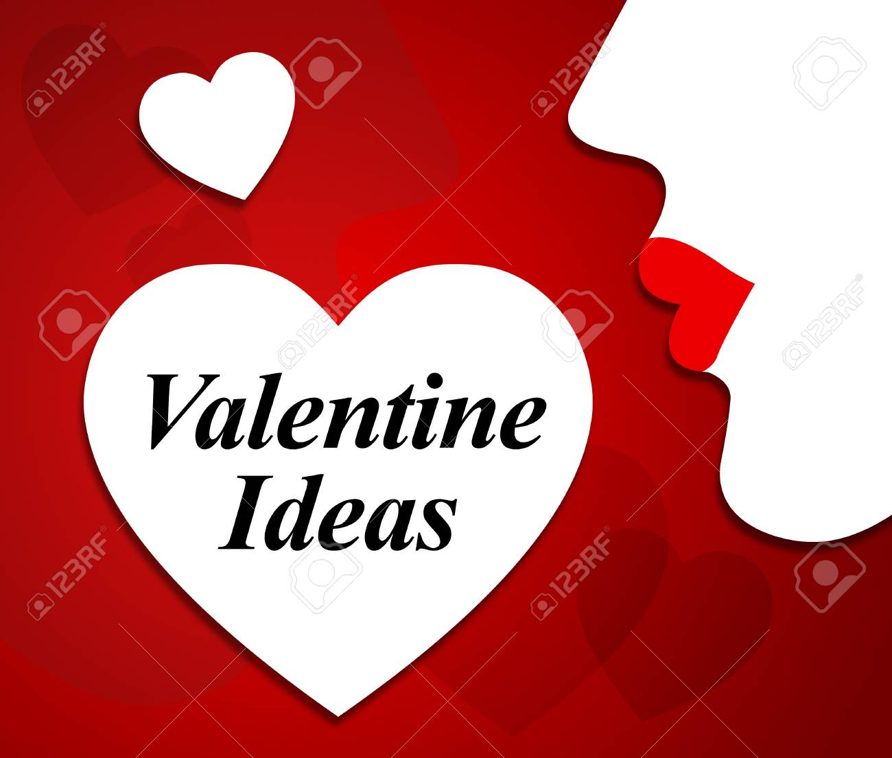 Valentine Ideas Meaning Valentines Day And Boyfriend Stock Photo