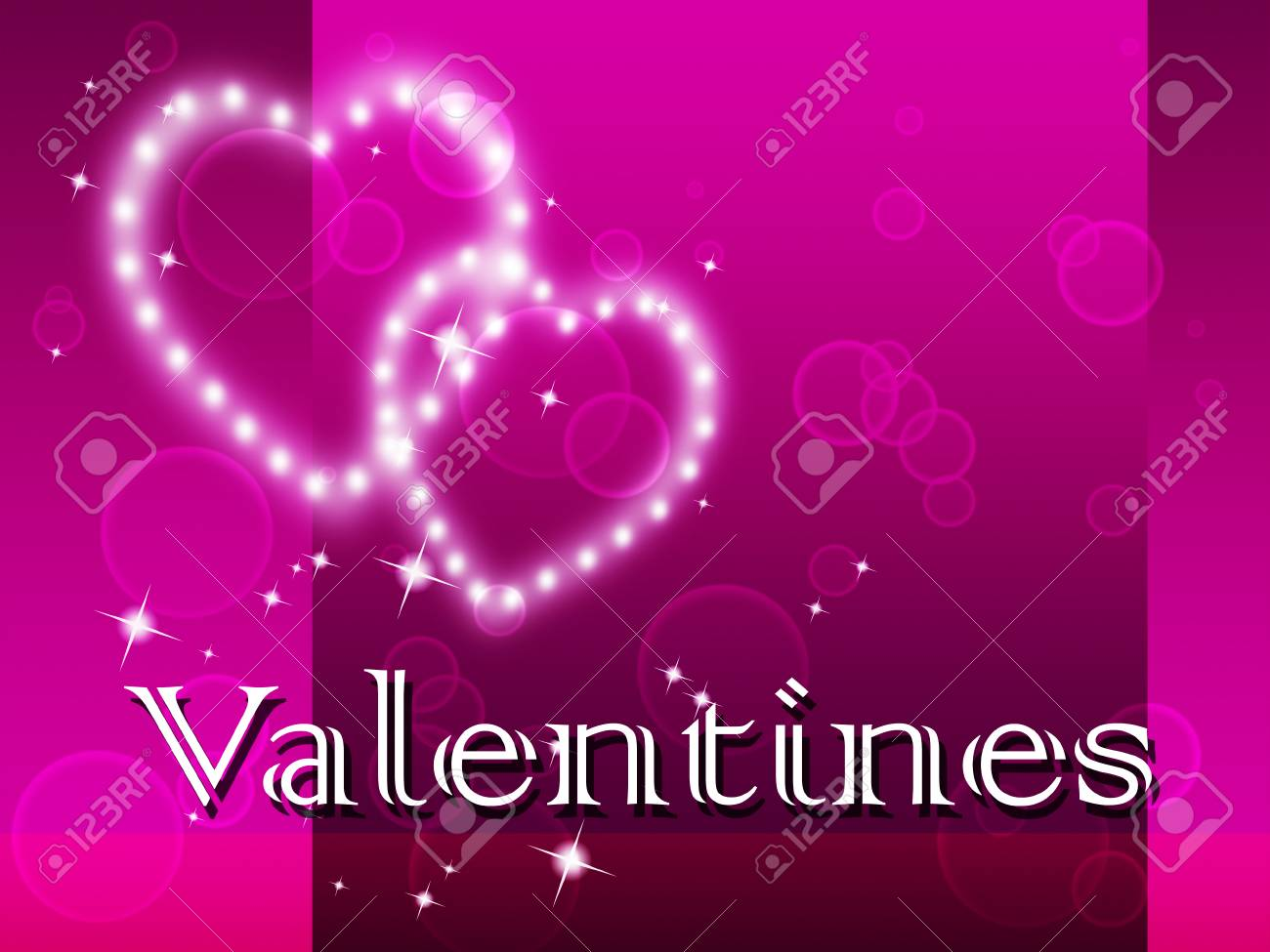 Valentines Hearts Meaning Couple Valentine S And Day Stock Photo