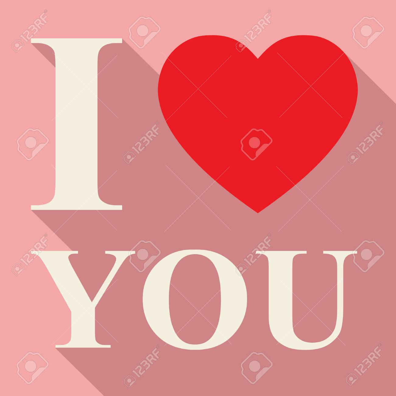 Love You Phrase Meaning Heart Shapes And Lover Stock Photo Picture
