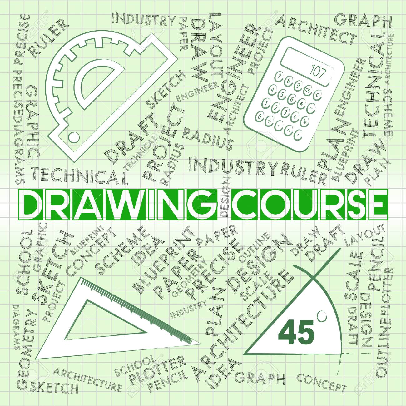 Drawing course meaning sketch designer and school stock photo drawing course meaning sketch designer and school stock photo 60691581 malvernweather Gallery
