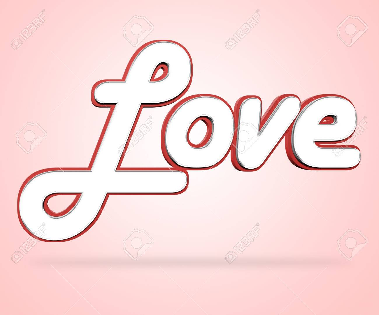 Love Word Meaning Lover Loving And Boyfriend Stock Photo