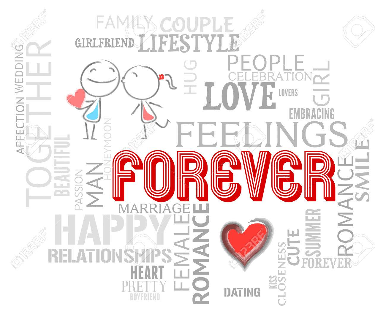 Forever Words Showing Find Love And Forevermore Stock Photo