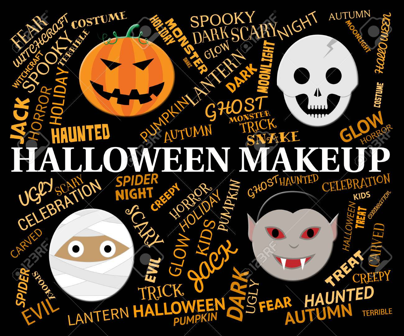 Halloween Makeup Meaning Spooky And Haunting Cosmetics Stock Photo ...