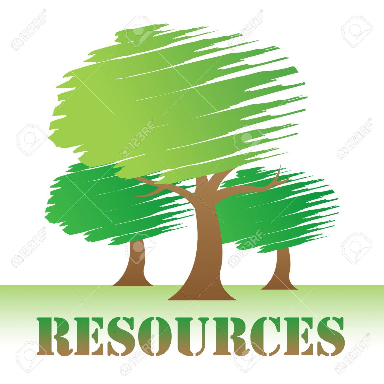 Resources Trees Meaning Natural Sources And Nature Stock Photo