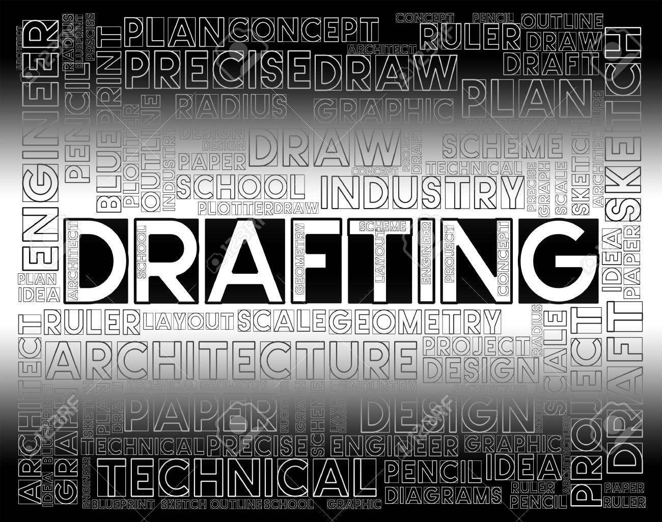 Drafting words meaning outline houses and blueprint stock photo drafting words meaning outline houses and blueprint stock photo 63918406 malvernweather Images