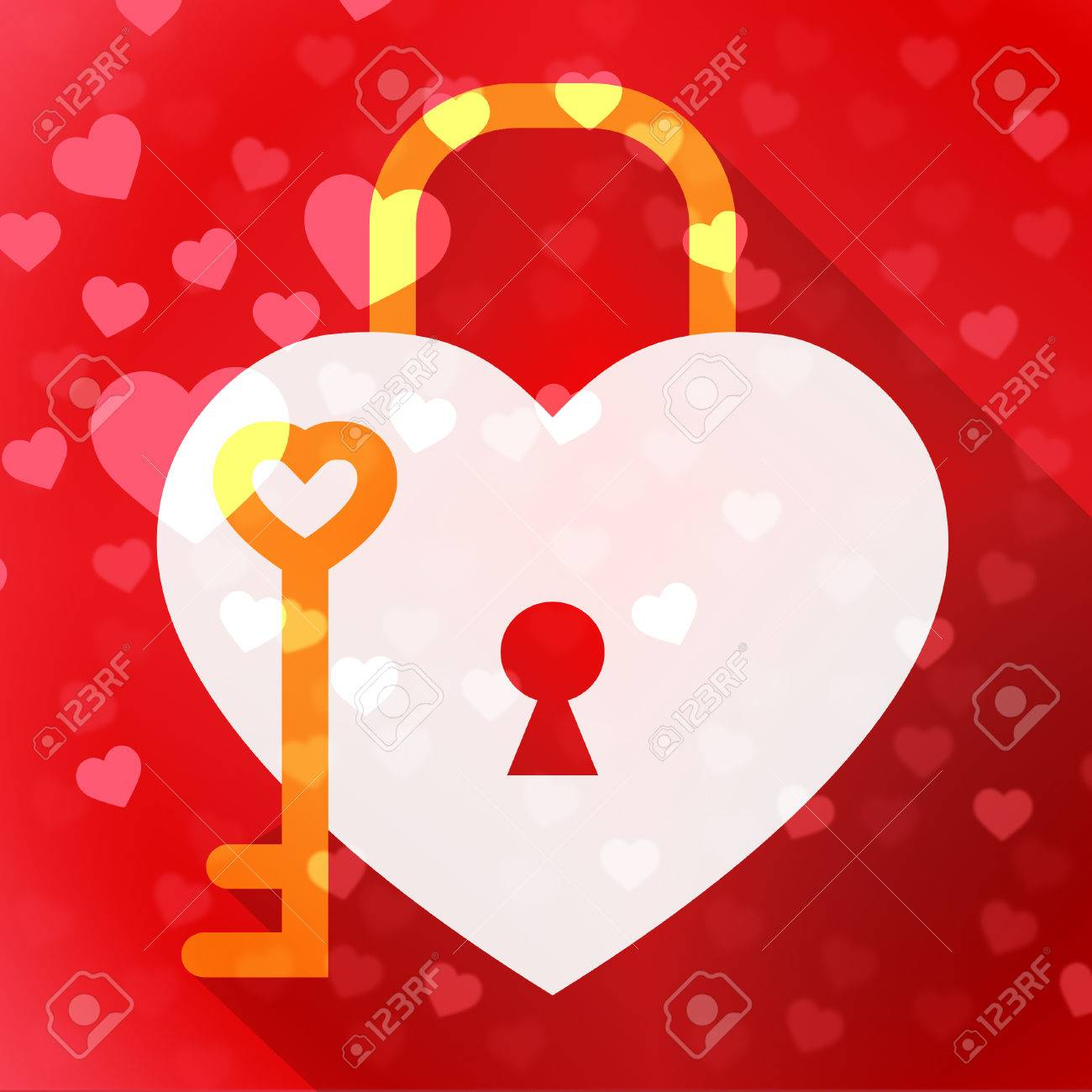 hearts lock meaning in love and adoration stock photo picture and