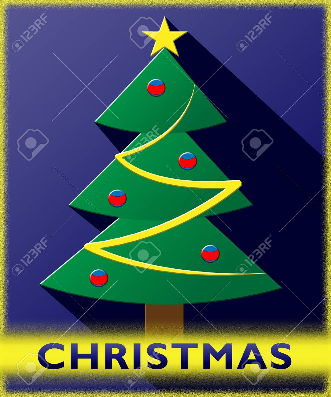 Christmas Tree Meaning.Stock Illustration