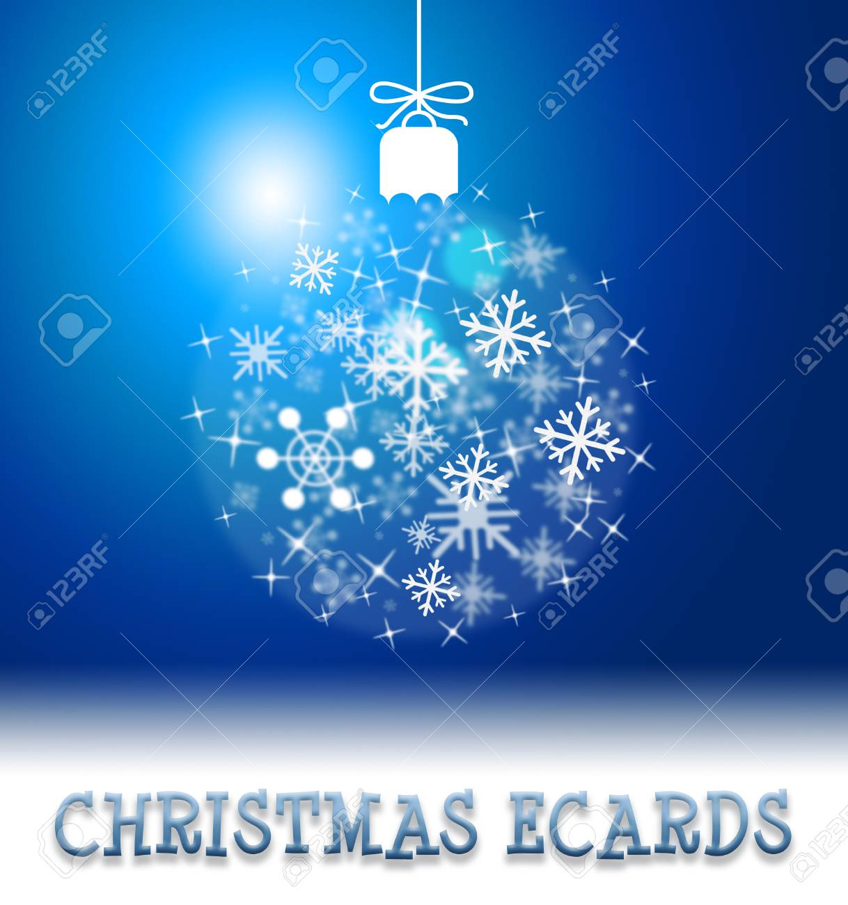 Christmas Ecards Ball Decoration Shows Xmas Card Online Greeting