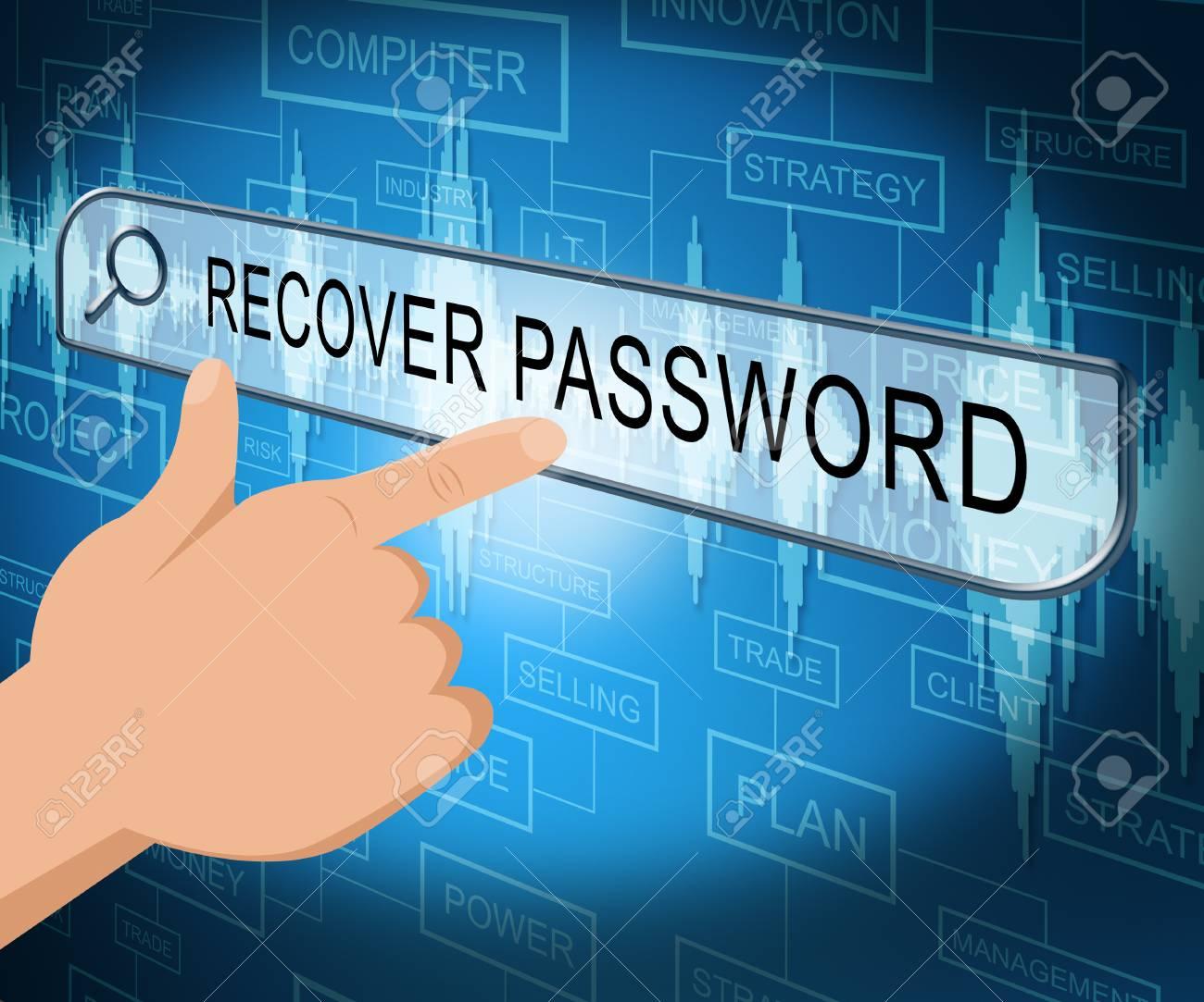 123Rf Password recover password online screen shows forgotten passwords 3d