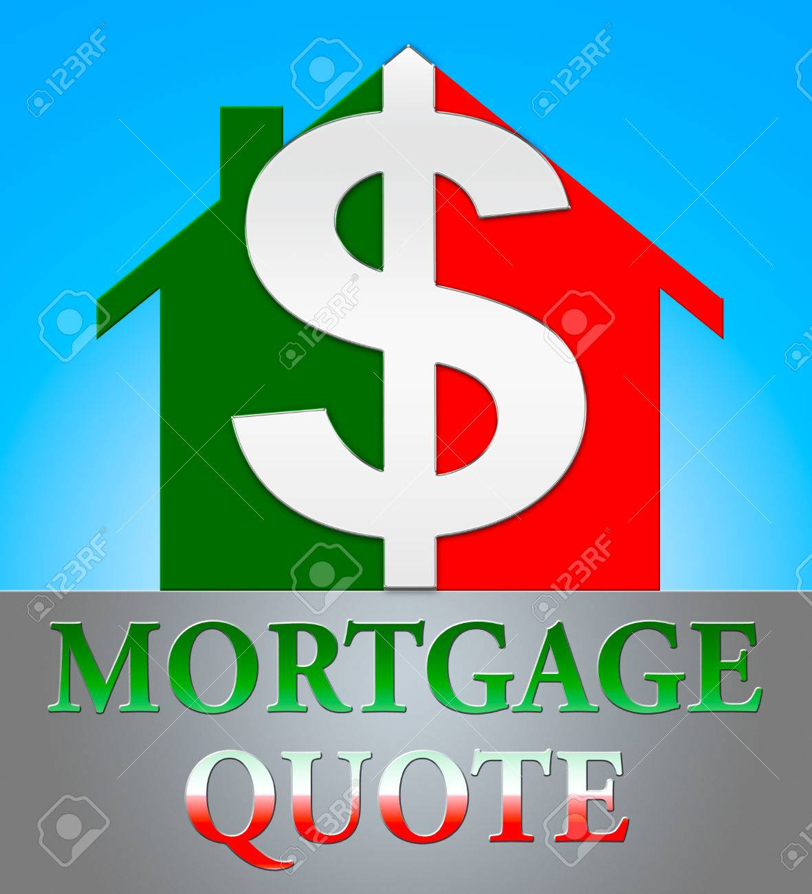 Mortgage Quote Pleasing Mortgage Quote Dollar Icon Means Real Estate 3D Illustration Stock