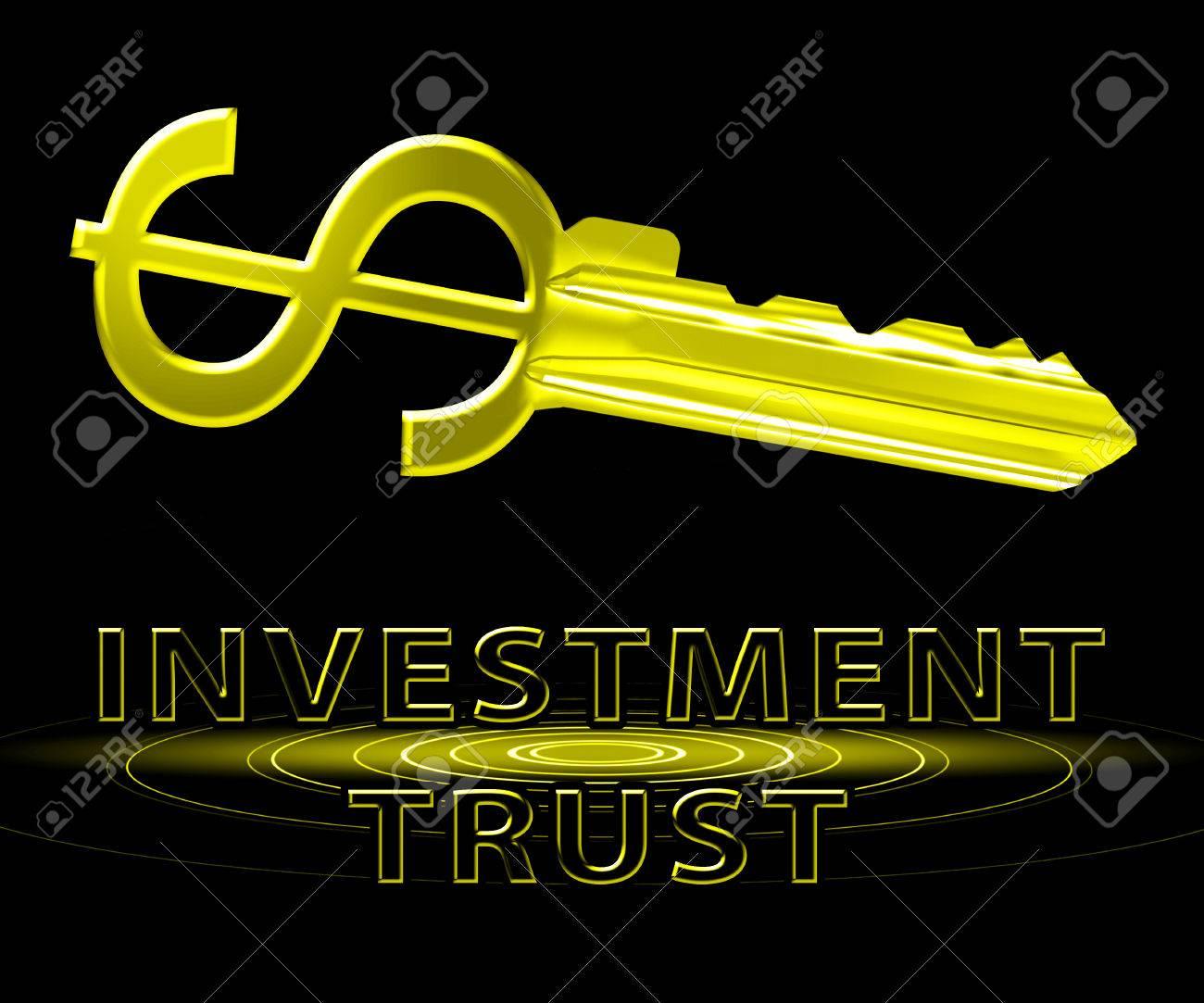 Investment Trust Dollar Key Means Investing Fund 3d Illustration