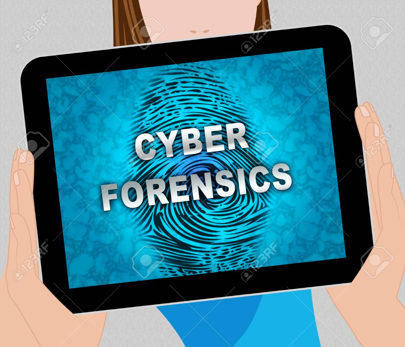 Cyber Forensics Computer Crime Analysis 2d Illustration Shows Stock Photo Picture And Royalty Free Image Image 104904792