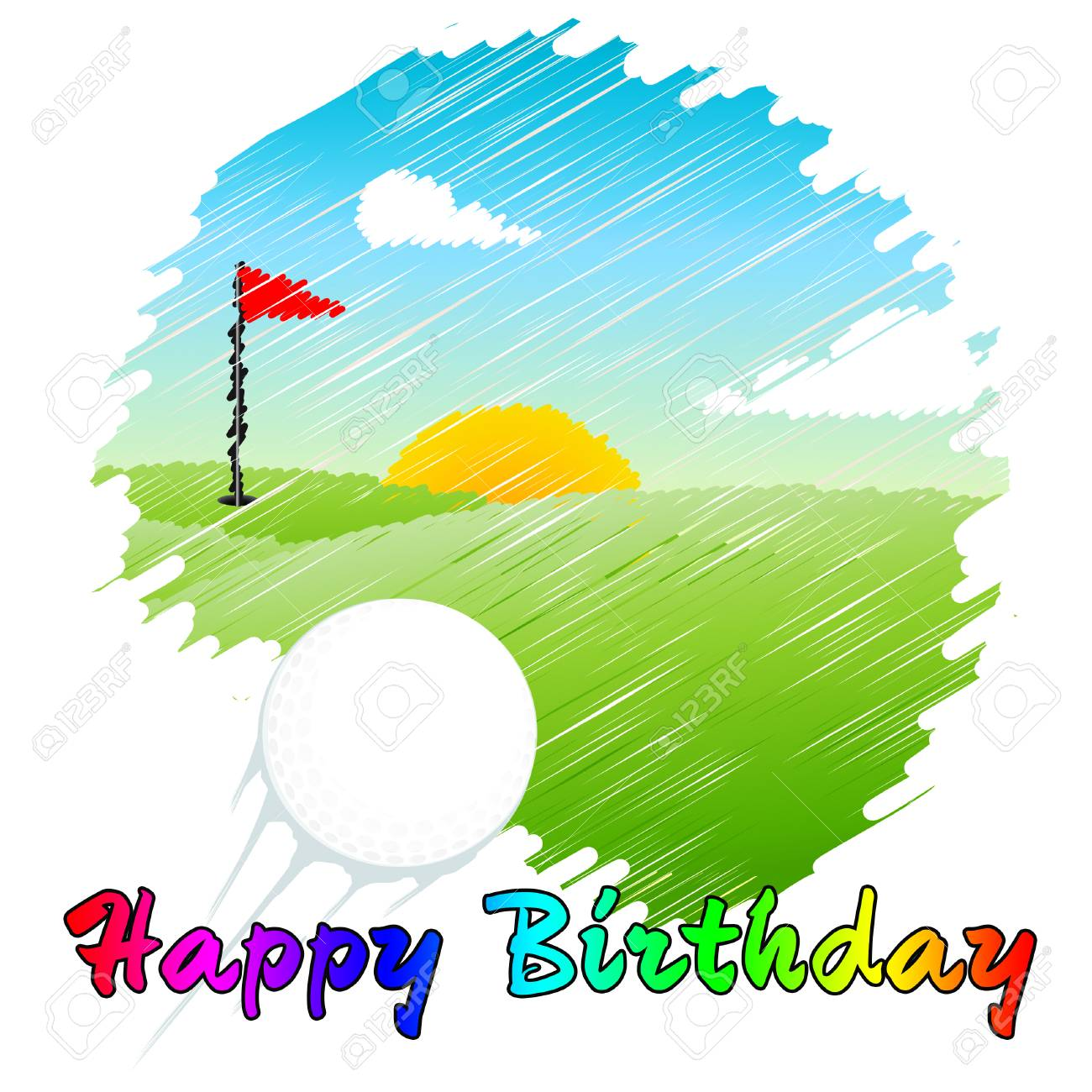 Happy Birthday Golfer Message As Surprise Greeting For Golf Player Congrats Golfing Fanatic