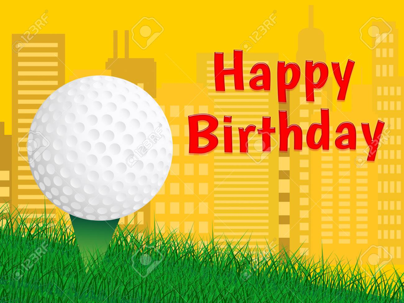 Happy Birthday Golf Message As Surprise Greeting For Golfer Congrats Golfing Fanatic