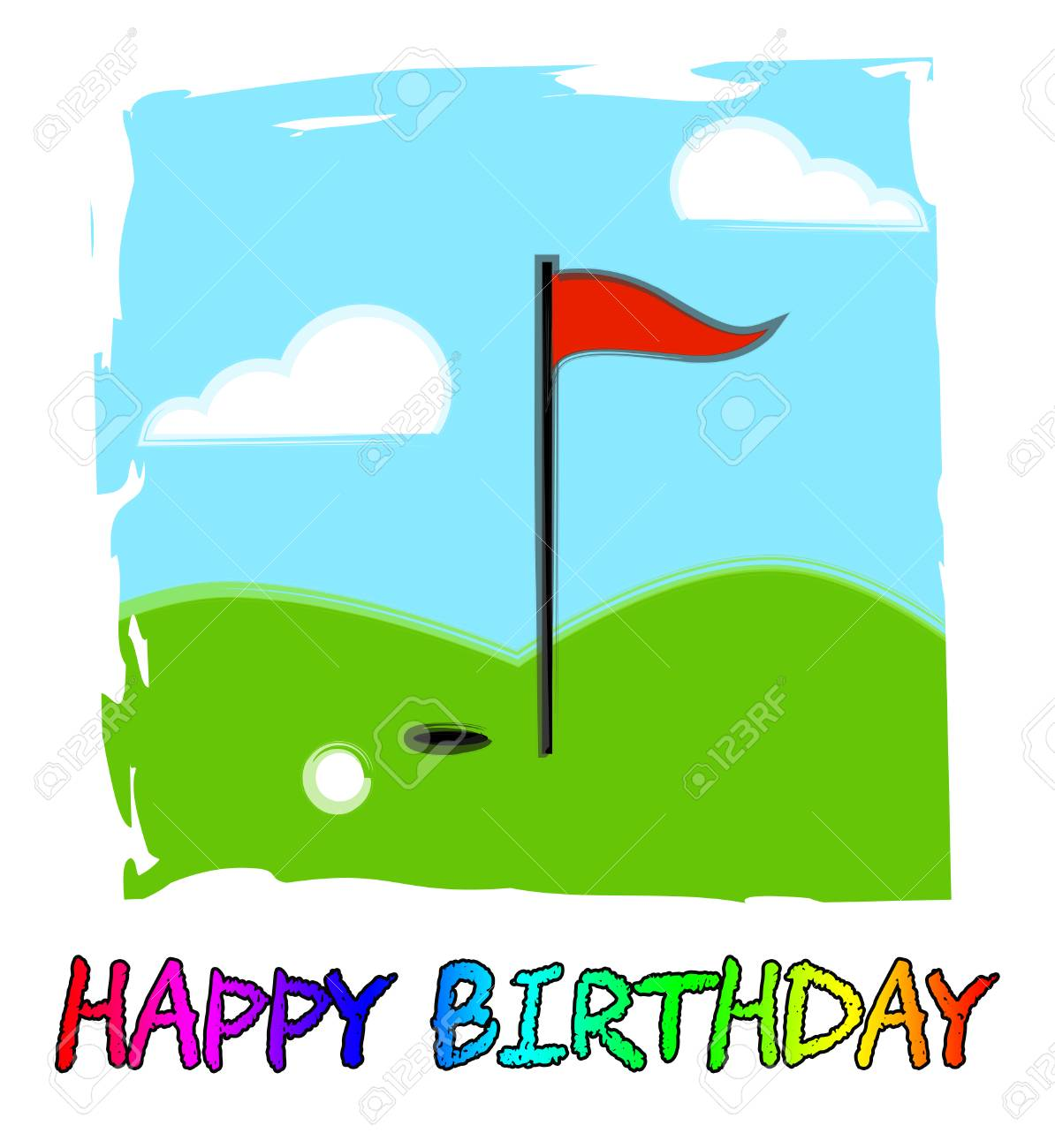 Happy Birthday Golfing Message As Surprise Greeting For Golfer Congrats Golf Fanatic