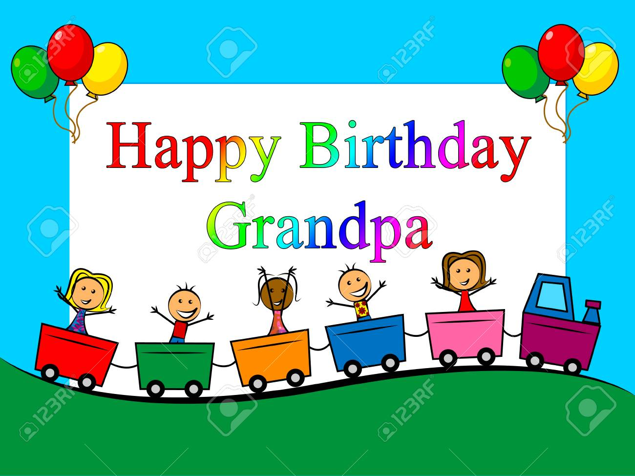 Happy Birthday Grandpa Card As Surprise Greeting For Grandad Best Wishes To Grandfather