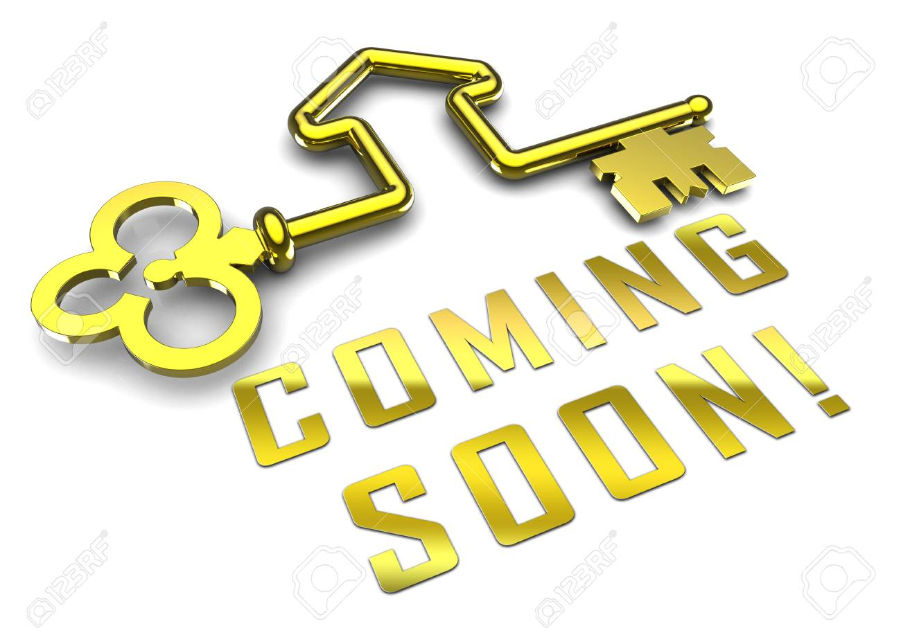 Coming Soon Key Shows Upcoming Real Estate Property Available. Realty Ownership Project Upcoming - 3d Illustration - 119299009