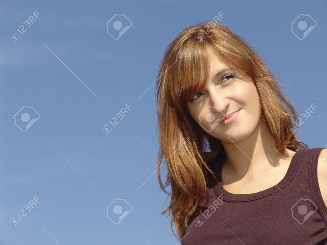 photo of pretty young girl  with romantic sight Stock Photo - 436606
