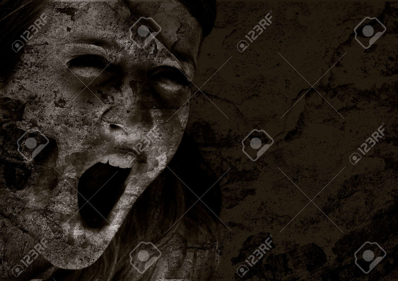 Scream of horror Stock Photo - 1842178