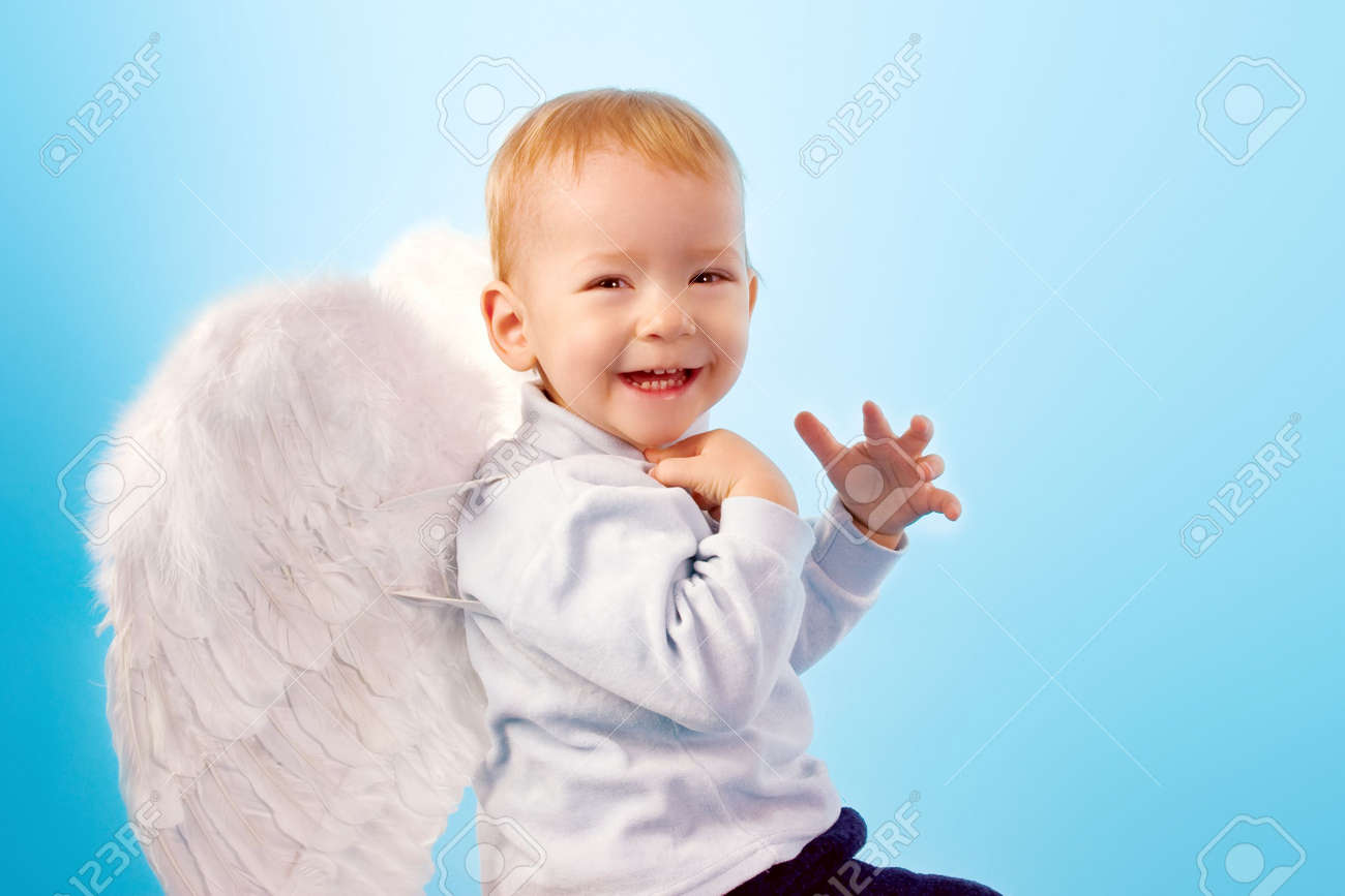 Happy laughing angel Stock Photo - 2377480