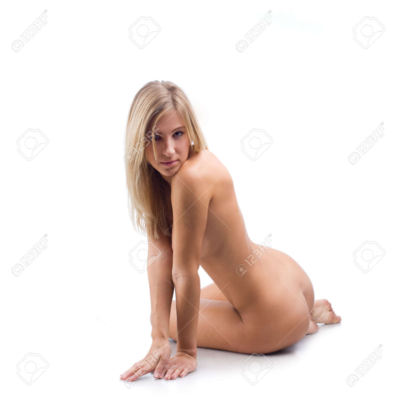 sitting Naked on girls