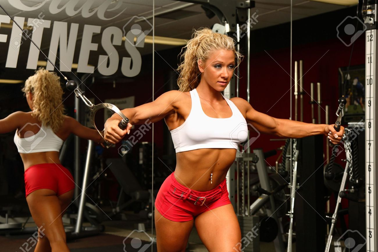 Female bodybuilder Stock Photo - 2523149