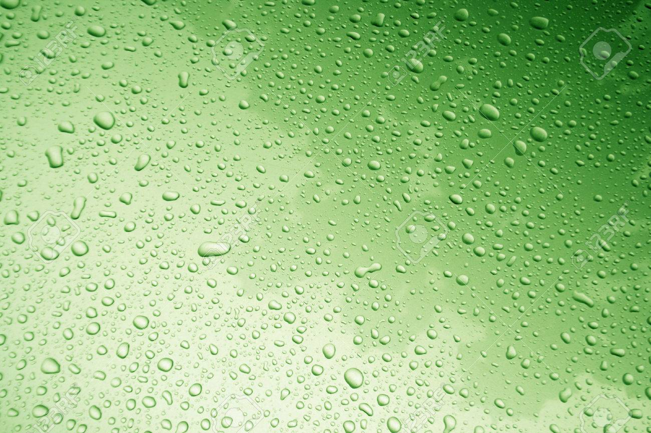 Background image body - Water Drop On Body Of Car For Background With Green Filter Stock Photo 41515992