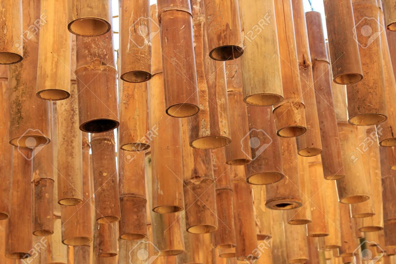 Bambus Dekoration Von Der Decke Hängen Lizenzfreie Fotos Bilder Und