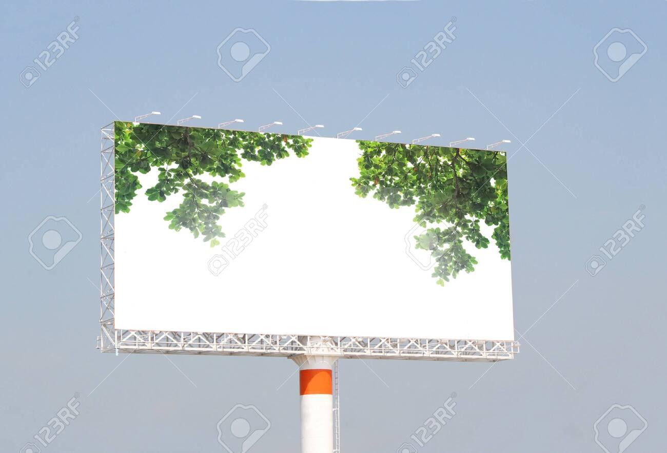 white billboard for advertisement - 149536706