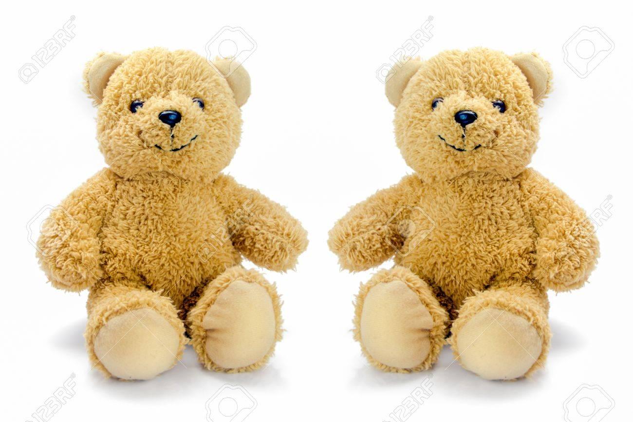 sitting bear toy isolated on white background Stock Photo - 16148559