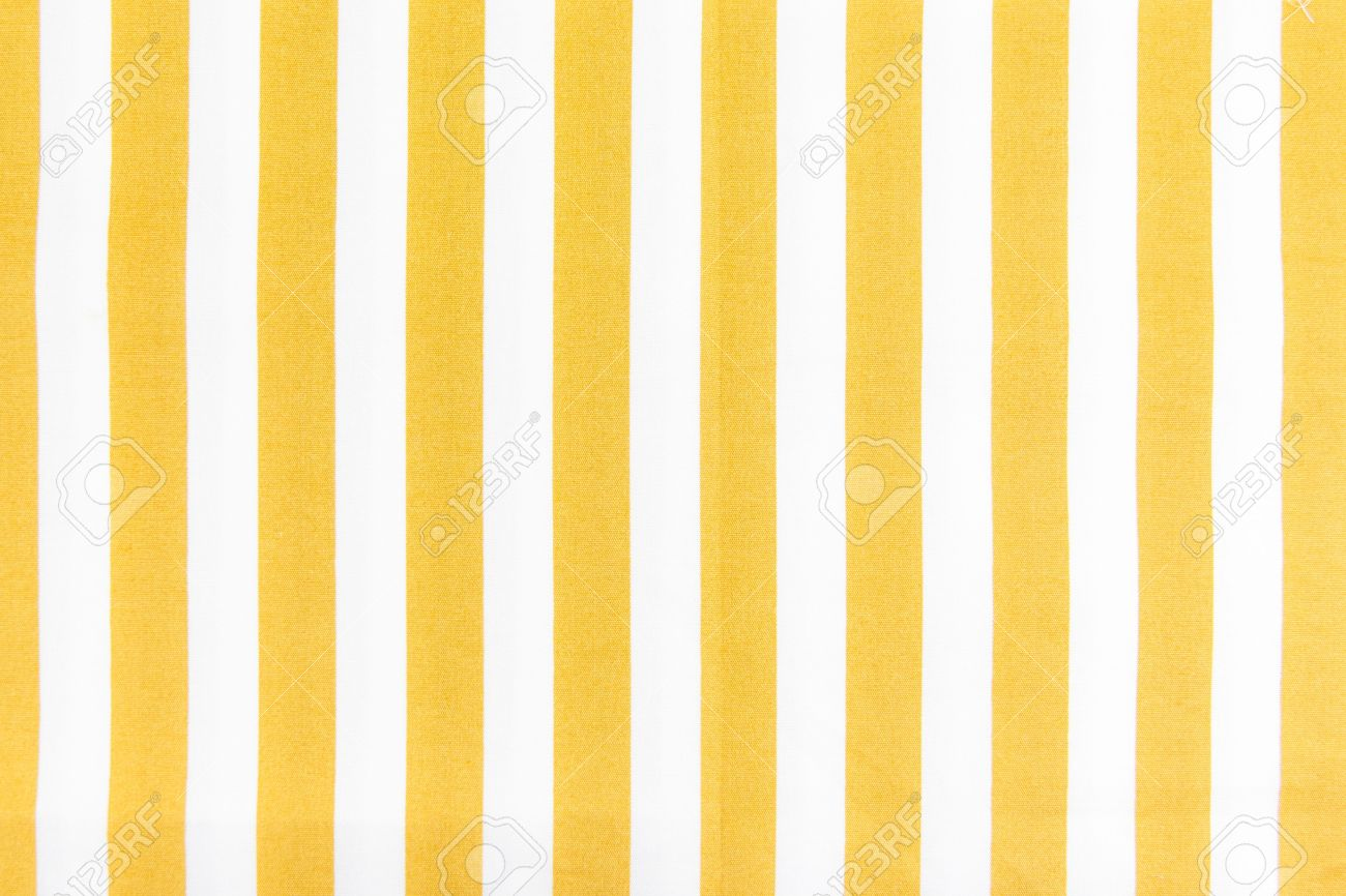 Yellow Line On White Fabric Background Texture Stock Photo ...