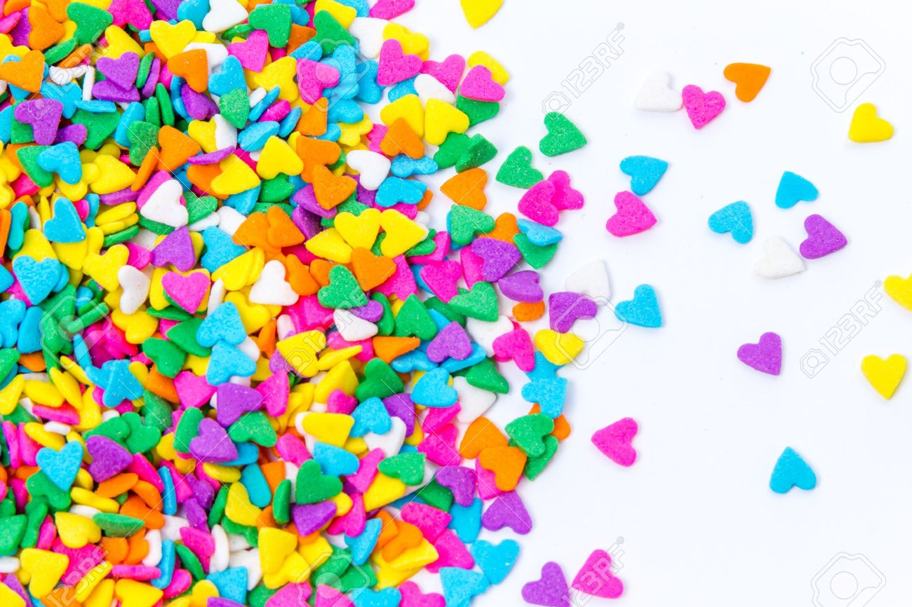 Colorful Sugar Sprinkles Background Stock Photo - 21816955