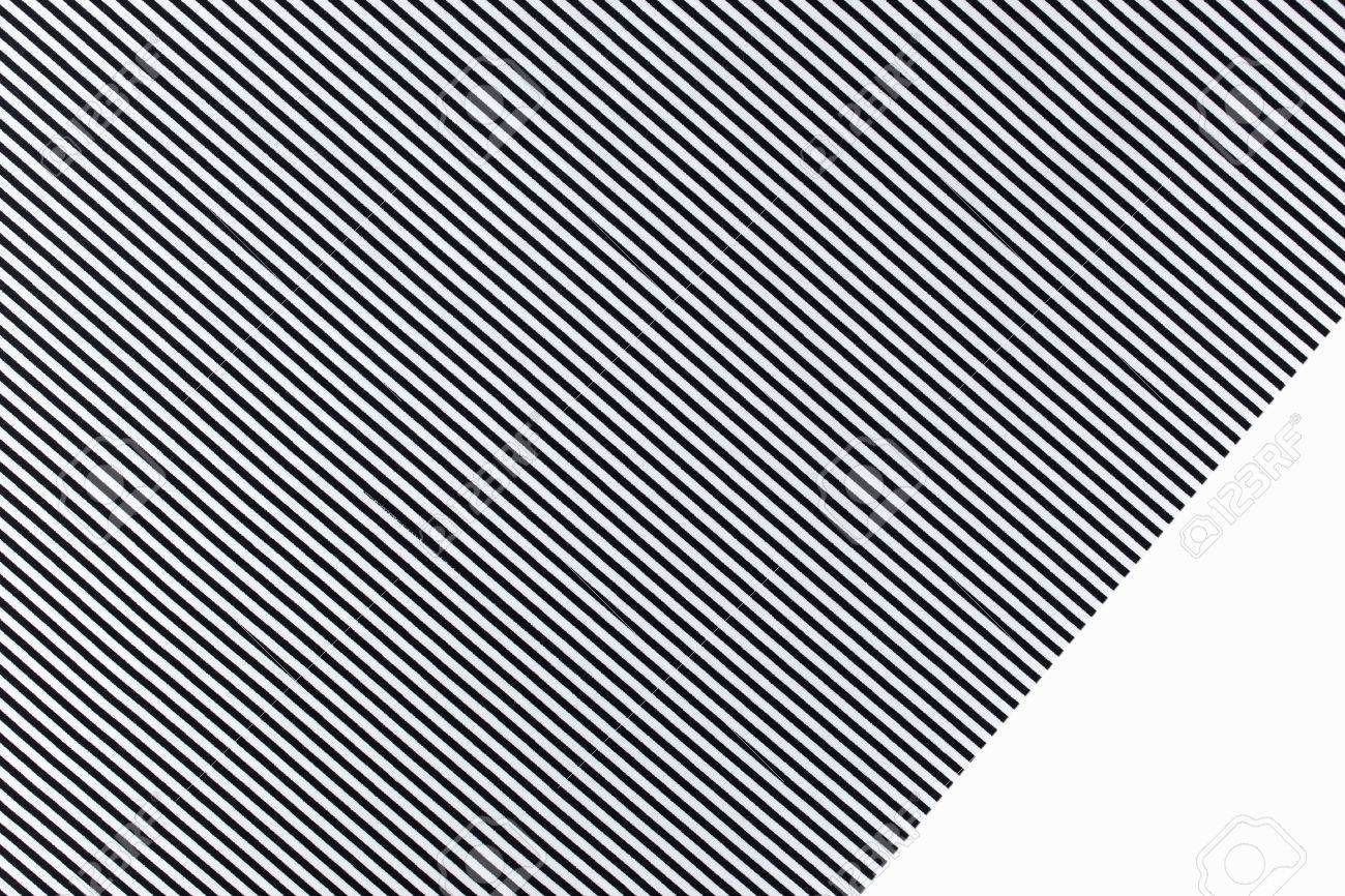 seamless black and white striped fabric texture background stock photo