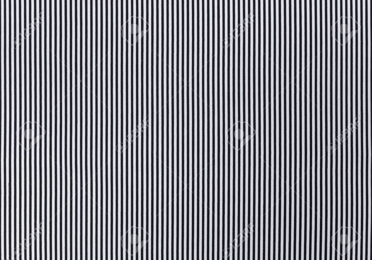 Black And White Striped Fabric Texture Background Stock Photo