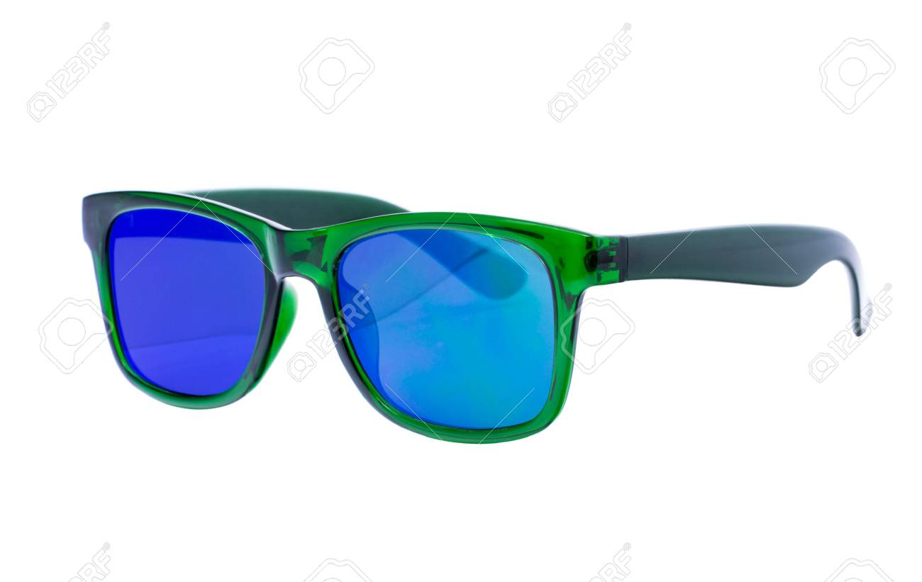 fotos oficiales 2b193 49ea7 Gafas de sol verdes aislados sobre fondo blanco